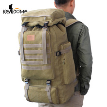 60L Large Military Bag Canvas Backpack Tactical Bags Camping Hiking Rucksack Army Mochila Tactica Travel Molle Men Outdoor XA84D tap molle mochila tb 100001