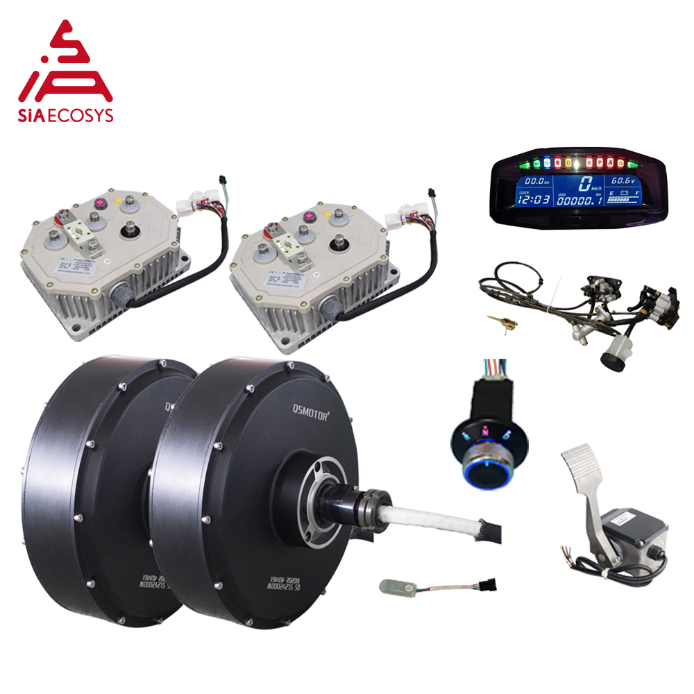 <font><b>QS</b></font> <font><b>Motor</b></font> <font><b>5000W</b></font> 260 V4 72v 90kph 2wd BLDC brushless electric car hub <font><b>motor</b></font> conversion kits for ATV car image