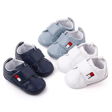 Newborn Baby Cute Boys Girls PU Classic First Walkers Soft Sole Shoes