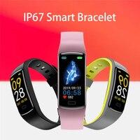 Smart Band misurazione della pressione sanguigna pedometro cardiofrequenzimetro braccialetto Fitness impermeabile Health Tracker Watch