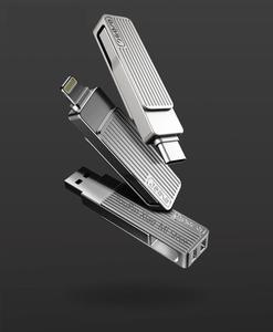 Image 1 - Xiaomi Jessis U Disk 32 Гб 64 Гб 128 ГБ, двойной USB флеш накопитель Type C OTG USB 3,1 USB флешка для телефона, планшета, ПК, MAC