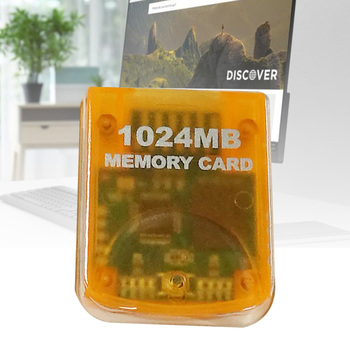 Memory Card(1024mb) For Nintendo Wii Game Cube, Gamecube Memory , Card Yellow image