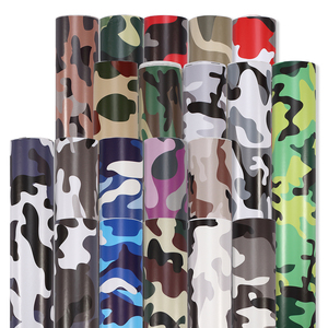 Image 1 - 1.52mx30M Black Grey White Green Red Real Camo Vinyl Car Wrap PVC Adhesive Camouflage Film Stickers For Full Car Wrapping Decals