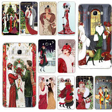 Macio Magro Caixa Do Telefone para Samsung Galaxy S3 S4 S5 Mini S6 S7 Borda S8 S9 S10 Plus Lite Nota 4 5 8 9 Natal do vintage Art Deco(China)