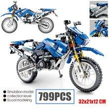 New MOC 799pcs Cruising Motorcycle Fit Legoings Technic Building Blocks Motor Bike Bricks Toys for Children Gift Kids