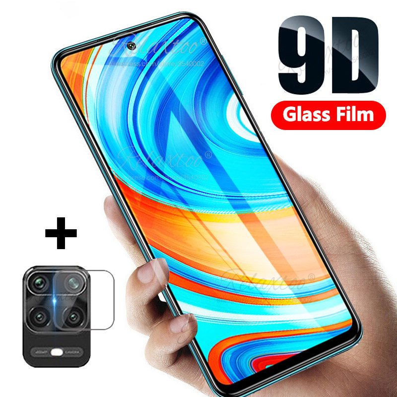9D Curved full cover glue Tempered protective Glass on For Xiaomi redmi note 9s 9pro 9 pro max screen protector Protective film
