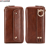 Universal Durable Leather Wallet Cell Phone Bags Cases Luxury Multi Functional Zipper Card Slots Purse Pouch Hand Bag Phone Case