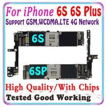 Gratis Verzending Originele Voor Iphone 6 S 6 S Plus Moederbord Zonder Touch Id Voor Iphone 6 S 6 S plus 6 4s Logic Board Met Chips Ios