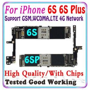 Image 1 - Gratis Verzending Originele Voor Iphone 6 S 6 S Plus Moederbord Zonder Touch Id Voor Iphone 6 S 6 S plus 6 4s Logic Board Met Chips Ios