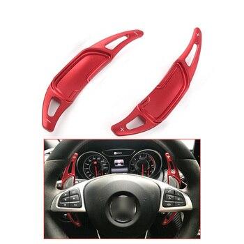 Yubao-paleta de cambio de volante para coche, para Mercedes Benz AMG GLA45 SL63 A45 C63 E63 S65 CLS6 W176 W205 W213 W222, Color Rojo