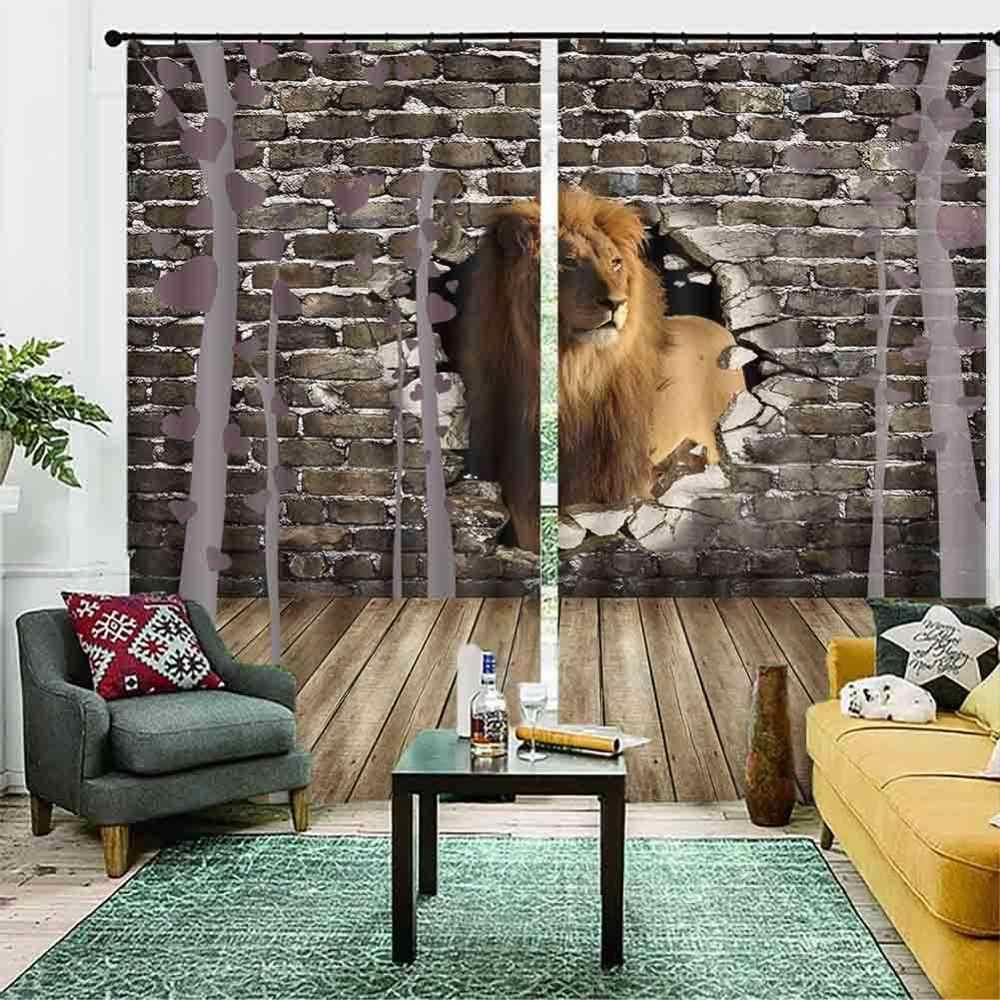 אישית 3D וילונות בעלי החיים Cortinas Para La Sala שינה ילדים חדר מטבח וילונות Blackout חלון