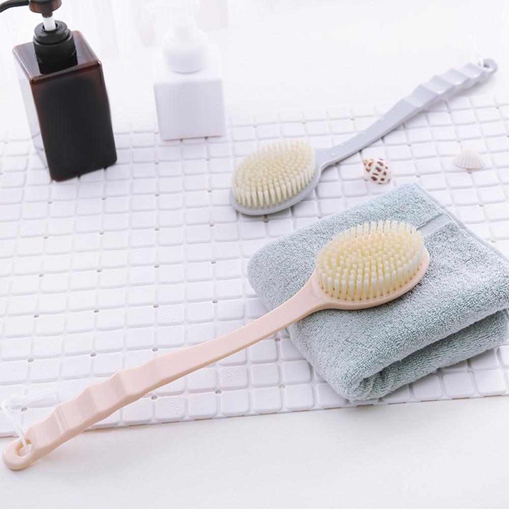 Exquisite Anti Skid Long Handle Bath Massage Brush Back Scraper Bathing Tool Anti Skid And Long Handle Design Easy Convenient To