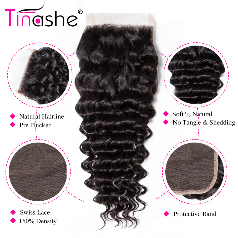 Hd3ac78b068aa46629691946e2a19f72a6 Tinashe Deep Wave Bundles With Closure 5x5 6x6 Lace Closure And Bundles Remy Brazilian Human Hair Weave 3 Bundles With Closure