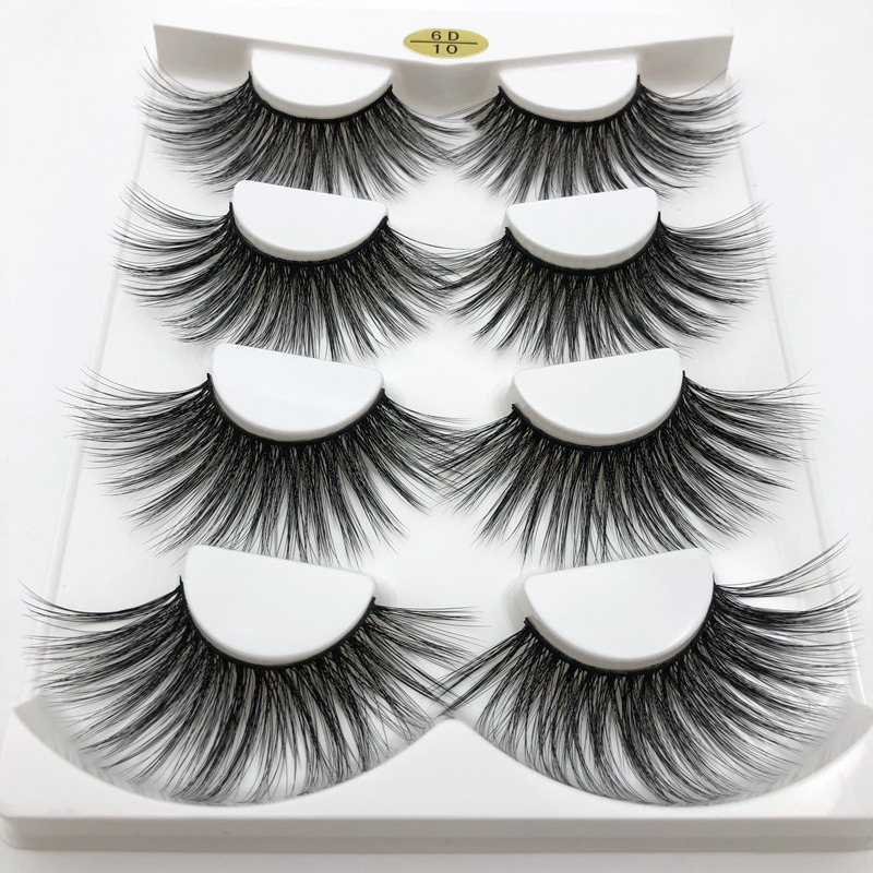 Buzzme 6D10 100% handmade natural thick Eye lashes 25mm faux mink hair volume soft false eyelashes wispy makeup extention tools