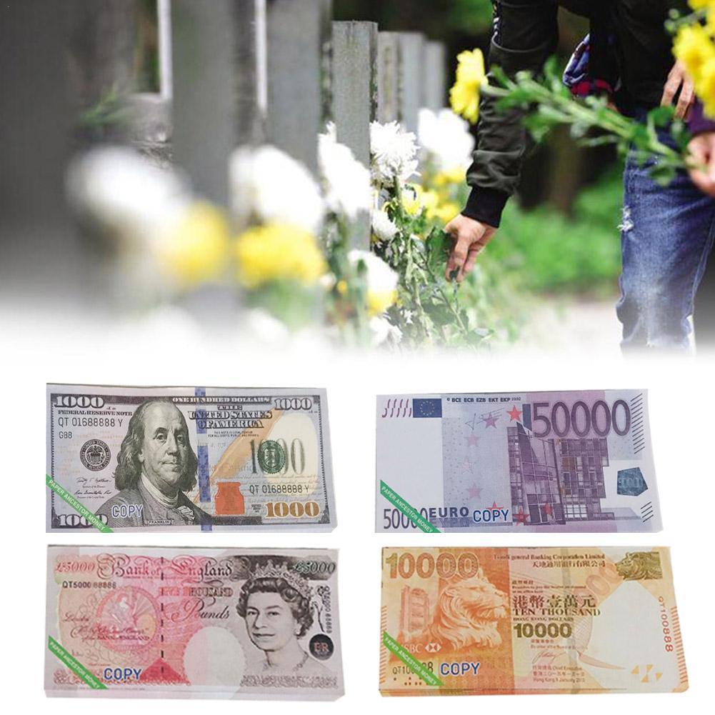 Papel Heaven Hell Bank-billetes de banco, puntero de apoyo de moneda, 80 Uds., estilo mixto, W2F0