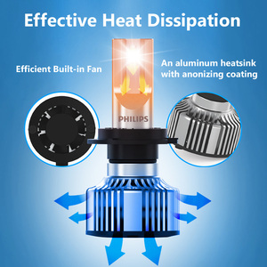 Image 3 - 2X Philips Ultinon Ätherisches G2 LED 6500K H1 12/24V 19W P 14,5 s Weit und in der nähe von licht Original lampe Super weiß licht 11258UE2X2