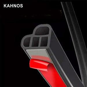 Image 2 - Joints détanchéité en caoutchouc pour portières de voiture, type L, Double couche, adhésifs, isolation phonique, bande résistante aux intempéries, accessoires dintérieur automobile