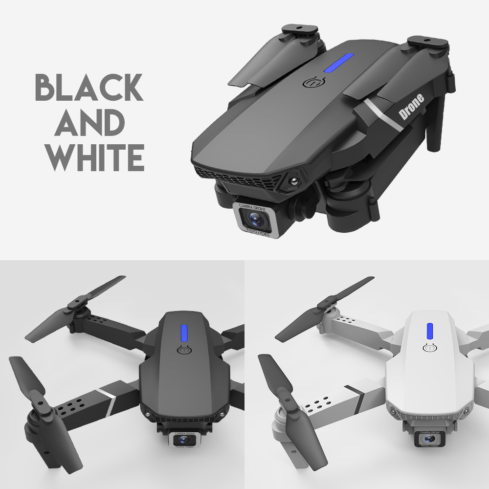 LSRC new RC drone E525 WIFI FPV and wide-angle high-definition 4K dual camera height keep foldable quadrotor dron gift toy 1