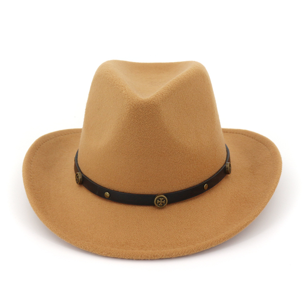 Men Women Straw Cowboy Hats Western Caps Panama Wide Brim Sunhat Sombrero Fedora