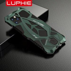 Image 1 - Luphie صدمات الهاتف حقيبة لهاتف أي فون 11 برو ماكس العسكرية الصف قطرة اختبار حافظة Coque آيفون X XS ماكس Xr غطاء من الألومنيوم