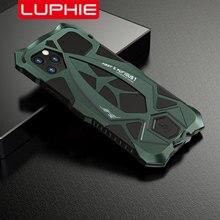 Luphie caso de telefone à prova de choque para o iphone 11 pro max grau militar caso testado caso coque para o iphone x xs max xr capa de alumínio