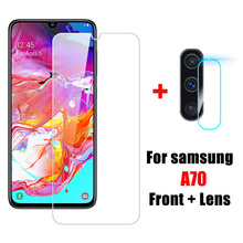 2 in 1 A70 Tempered Glass SamsungA70 Camera Lens Protective Glass for Samsung Galaxy A70 sansung A 7