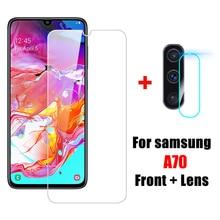 2 in 1 A70 Tempered Glass SamsungA70 Camera Lens Protective Glass for Samsung Ga
