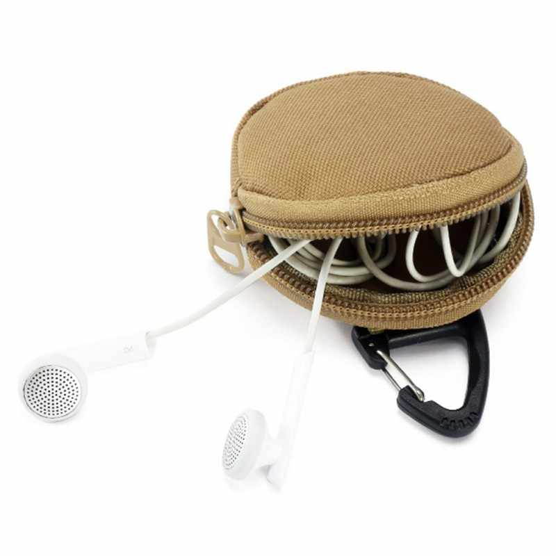 Sac de rangement militaire extérieur Portable multifonction sacs ronds portefeuille tactique carte chasse pochette, porte-clé argent pochette