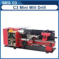 "7""x 14""Mini Precision Metal Lathe SIEG 350W motor+C3 350mm 2500RPM Variable Speed Mini Lathe Micro Wood & Metal Lathe"