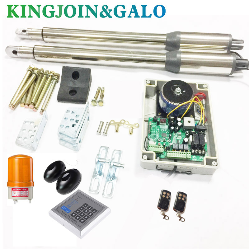 RFID Swing Gate Opener 2 DC gate motor/2/4/6 Remote / 1 Control panel/2 arms /1 Rubber Gate Stop