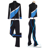 Girls Women Dancewear Ice Figure Skating Outfit Clothes Top Jacket Trousers Skating Suit