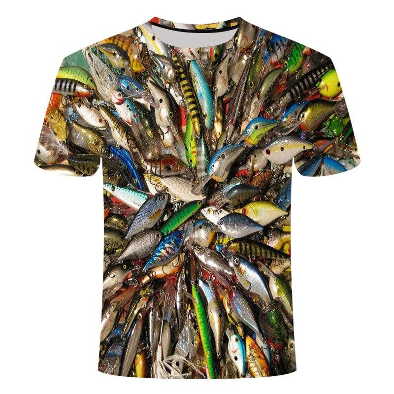 Мужская модная футболка с 3D принтом Fishinger, мужская повседневная футболка с коротким рукавом Homme, забавная S-5XL, футболки, топы, футболки, лето