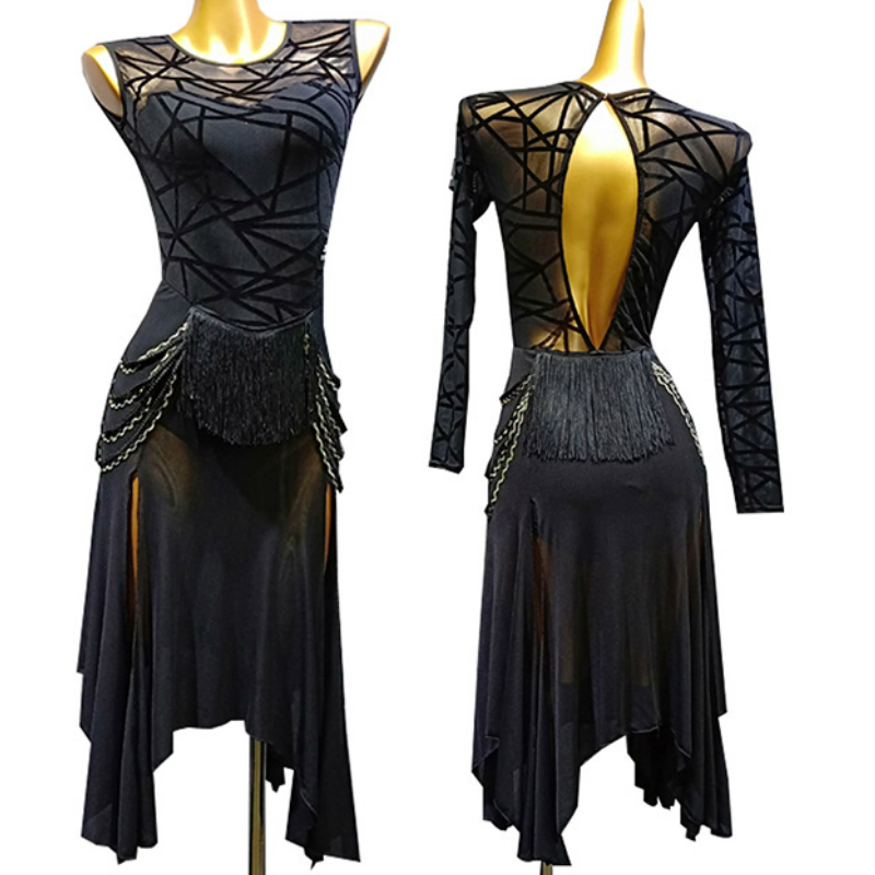 Latin Dance Adult New Dance Clothes Latin Dance Skirt Female Summer Dress Latin Performance Clothes Tango Dress