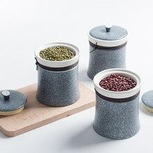Современная керамическая банка для хранения еды Кухонный Контейнер