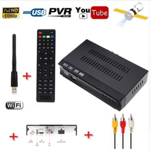 Vmade HD DVB S2 récepteur Satellite + USB WiFi Dongle adaptateur TV antenne Support M3U Youtube Biss clé entièrement 1080P Mini décodeur