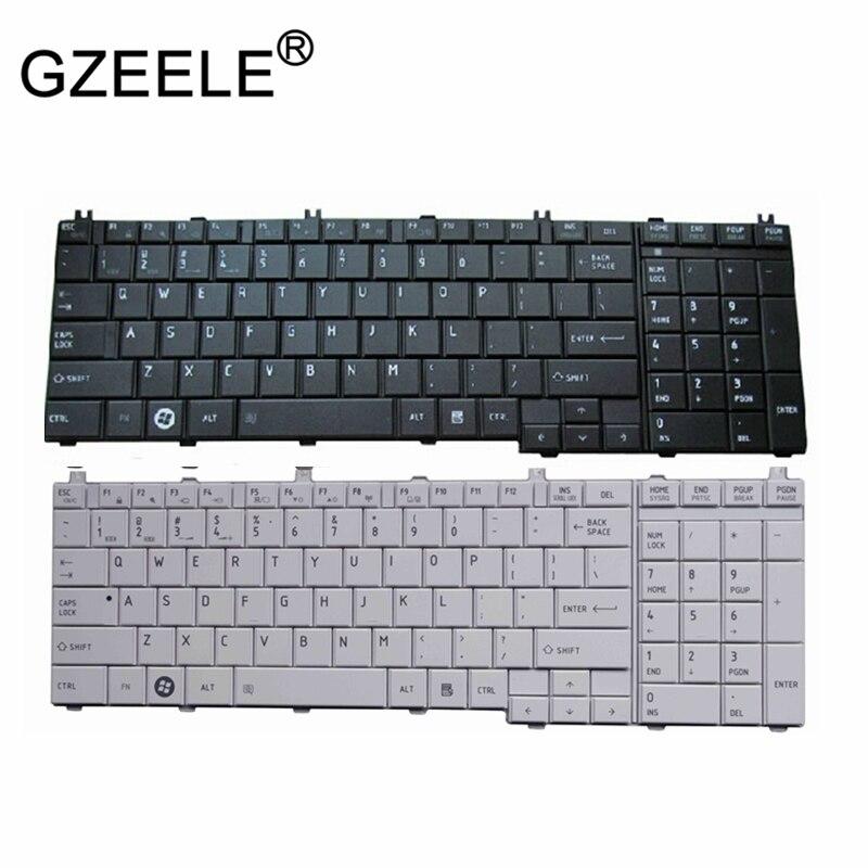 GZEELE Inglês teclado Para Toshiba Satellite L670 L670D L675 L675D C660 C660D C670 C655 C650 C650D L650 L655 L655D L750 L750D