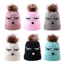 Embroidered Children's Hats Acrylic Fiber Jacquard Baby Warm Pullover Knit Cap Kids Accessories For Baby Boy Girl Headdress(China)