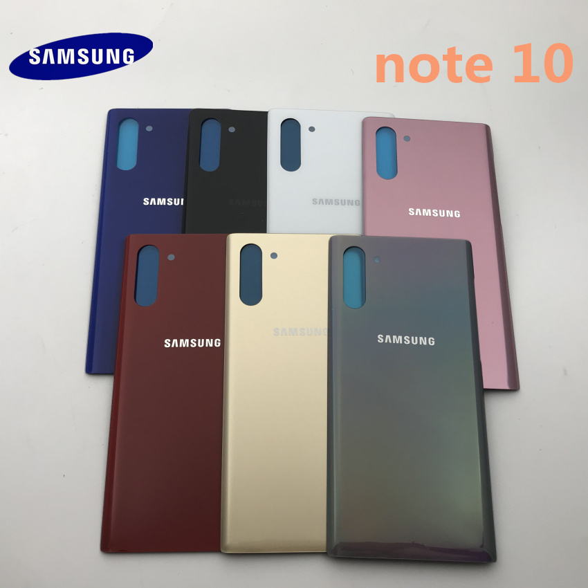 Original Samsung Galaxy Note 10 N970 Note10 Plus N975 Battery Back Cover Door Housing Replacement Repair Parts+Sticker Glue