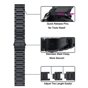 Image 4 - Stainless Steel Band For Xiaomi Amazfit GTR 2 Bip S U Pro GTS2 Mini 2e Stratos 3 Bracelet Watchband 20mm 22mm Smart Watch Strap