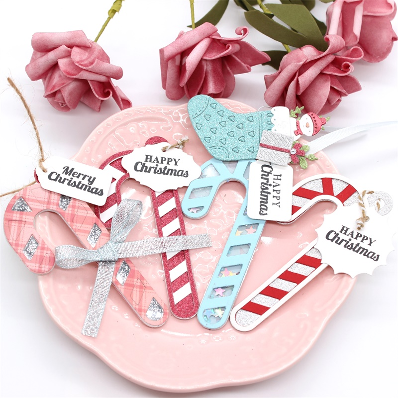 KLJUYP Candy Cane Shaker Metal Cutting Dies Scrapbook Paper Craft Decoration Dies Scrapbooking