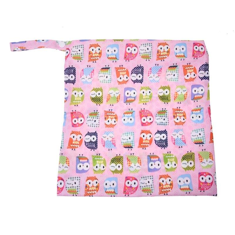 Водонепроницаемый многоразовый тканевый мешок для подгузников на молнии для младенцев