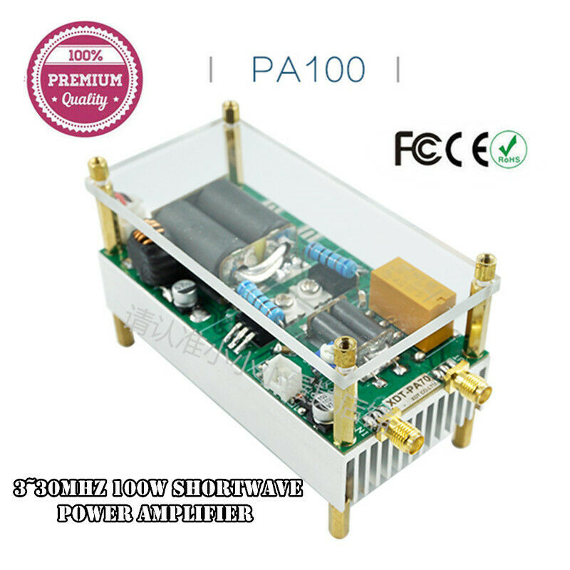 Amplificador HF de potencia de onda corta de 3 ~ 30Mhz 100w, amplificador RF para QRP YAESU FT-817 FT-818 KX3 ic-703 /Xiegu X5105 G90S G1M/KN-990