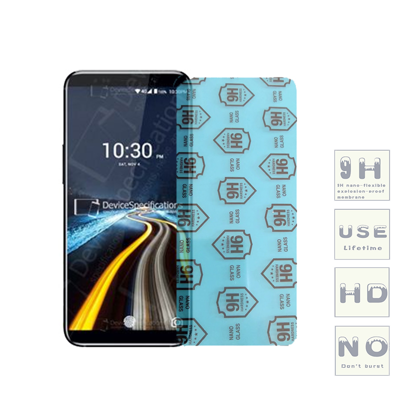 (3-Pack) 9H Flexible Glass Screen Protector For Uhans S1/A101/A101S/H5000/U300/S3/A6/Note 4/Max 2/MX/K5000/i8/i8 Pro
