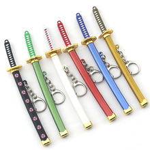Japanese Anime One Piece Keychain Alloy Metal Knife And Sword Weapon Model Hang Buckle Keyring Men Woman Jewelry Gift