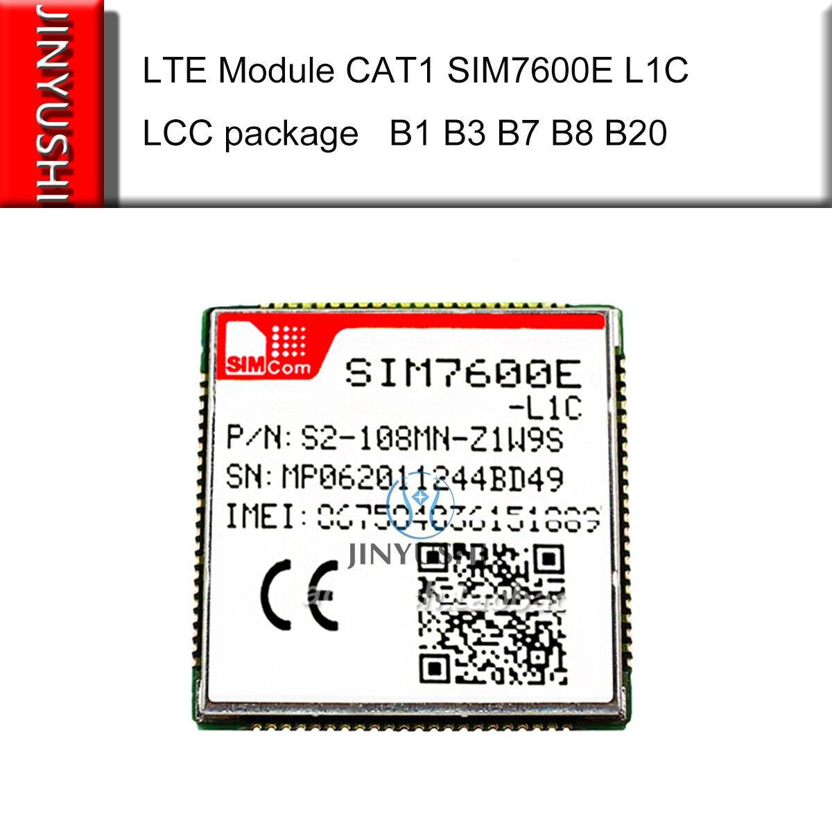 SIMCOM SIM7600E L1C SIM7600E-L1C LCC 4G Multi Band LTE Module CAT1 LTE-FDD/HSPA+/UMTS/EDGE/GPRS/GSM GNSS GPS GLONASS BEIDOU