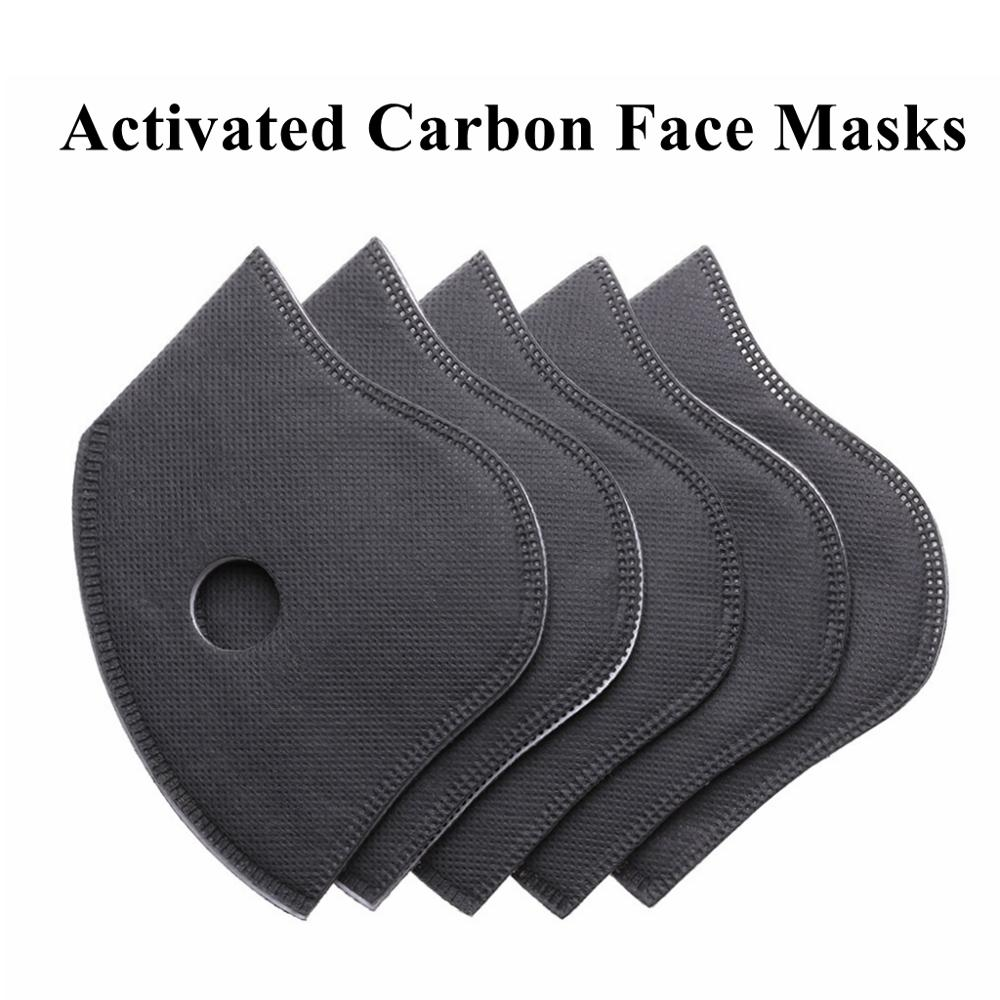 5Pc Activated Carbon Breathable Fiber PM2.5 6 Layers Particulate Face Mask Filter Anti-Dust Cycling Mask Air Cleaner Dust Tools