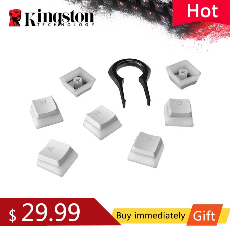 Kingston HyperX Double Shot PBT Pudding Keycaps Full 104 Translucent Scrub keycap Compatible with HyperX RGB mechanical keyboard
