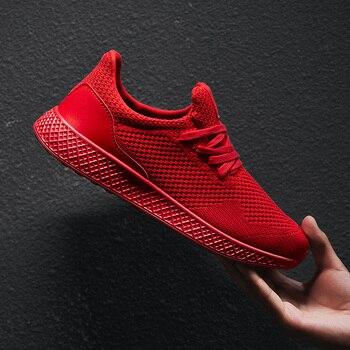 Damyuan scarpe da corsa rosse Super leggere da uomo Sneakers nere Casual da uomo scarpe sportive da uomo grigie da uomo di grandi dimensioni 39-48 1