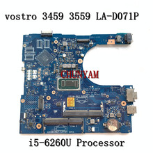 FOR Dell Vostro 3459 3559 Laptop Motherboard I5-6260U AAL15 LA-D071P CN-0011M2 011M2 VGAport  Mainboard 100%Tested