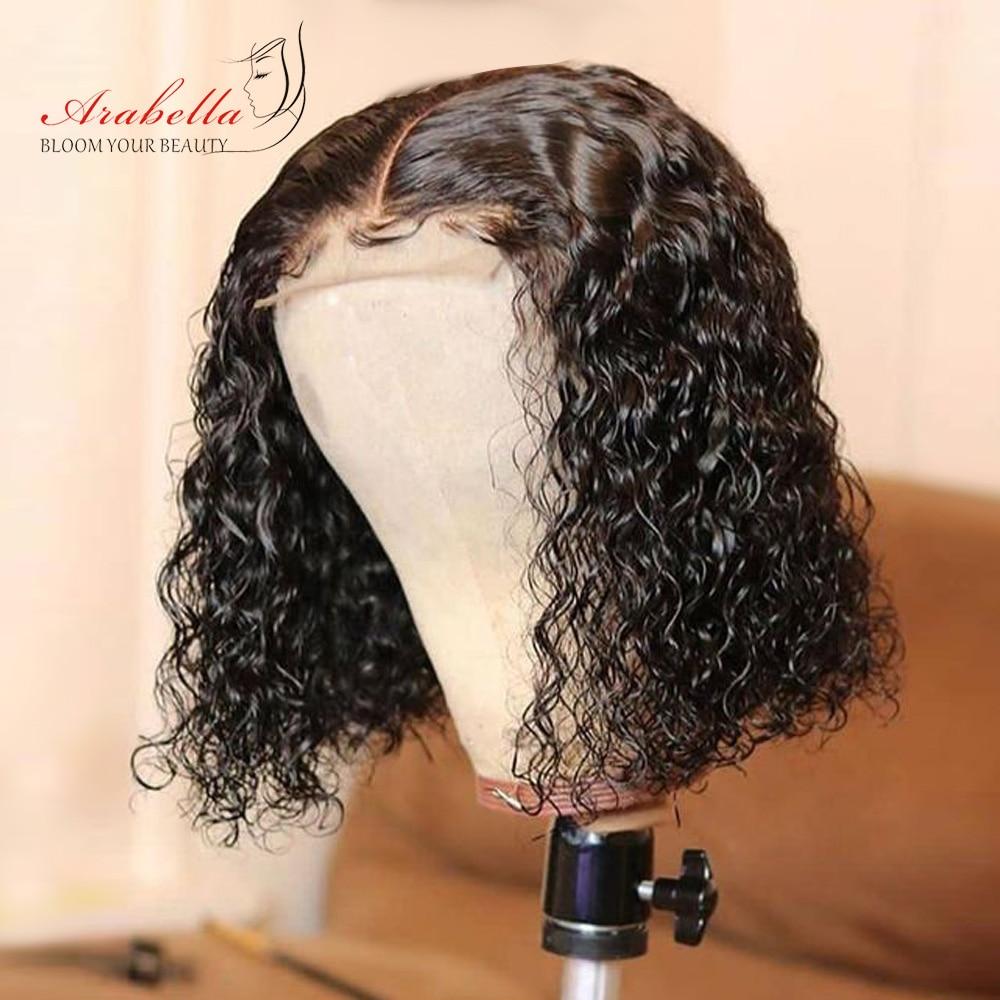 Deep Wave Bob Wig  Hair 180% Density Lace Closure Wig  With Baby Hair 100%  Wigs Bob Deep Curly Arabella 1